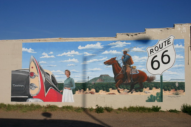 Route 66 mural tucumcari new mexico flickr photo for Route 66 mural