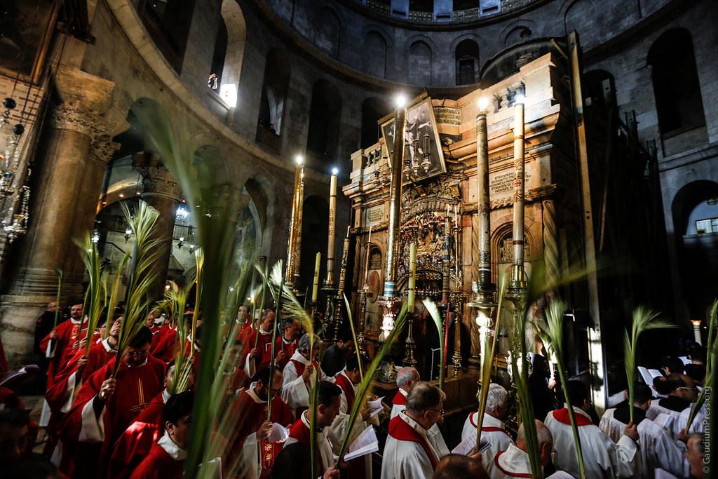 Domingo de Ramos en la Basílica del Santo Sepulcro