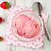 Roasted Strawberry and Goat Cheese Ice Cream