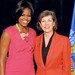 Kathleen, the second longest serving county executive in Wisconsin History standing with First Lady Michelle Obama.