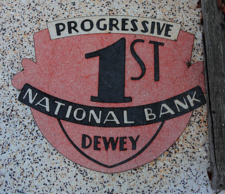 Progressive 1st National Bank of Dewey Entranceway | by Photographs By Wade