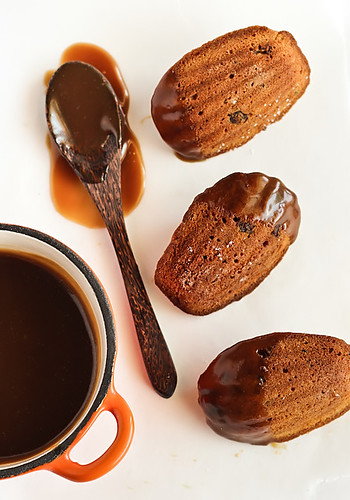 Sticky Date Madeleines with Butterscotch Sauce | by raspberri cupcakes