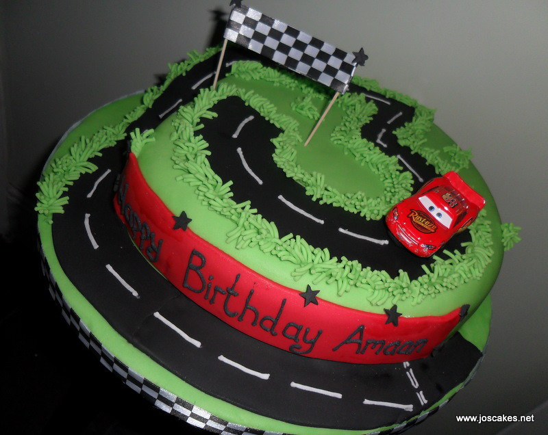 Cars Racing Track 3rd Birthday Cake This birthday cake fea Flickr