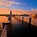 The Sun Rises Over Disney's Yacht and Beach Club Resort