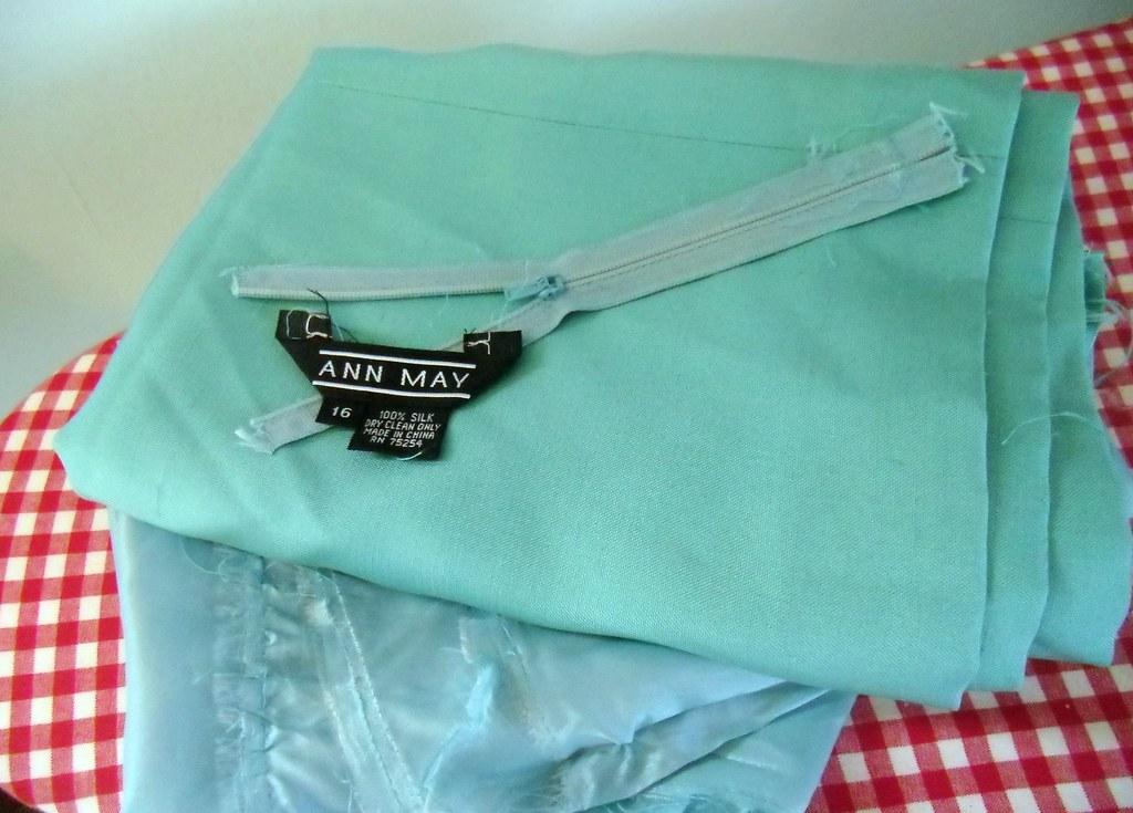 Thrifted Silk Skirt Ripped Apart Silk Fabric Silk