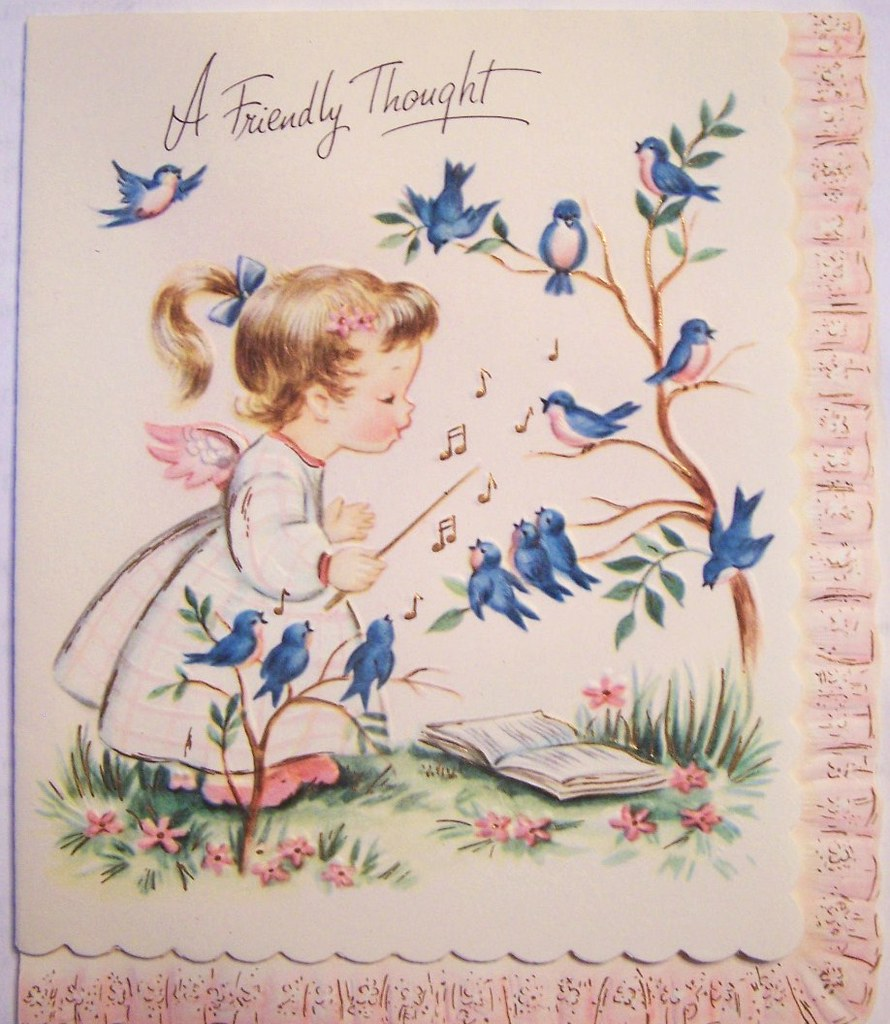 a friendly thoughtvintage greeting card  part of my