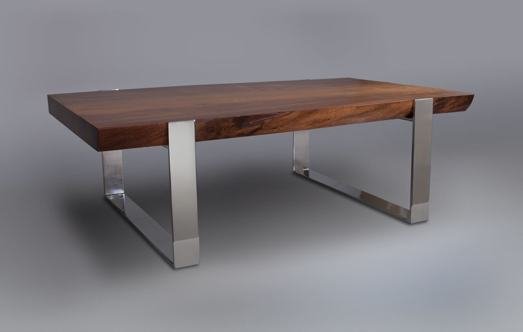 live edge wood mirror polished stainless steel base kr flickr. Black Bedroom Furniture Sets. Home Design Ideas