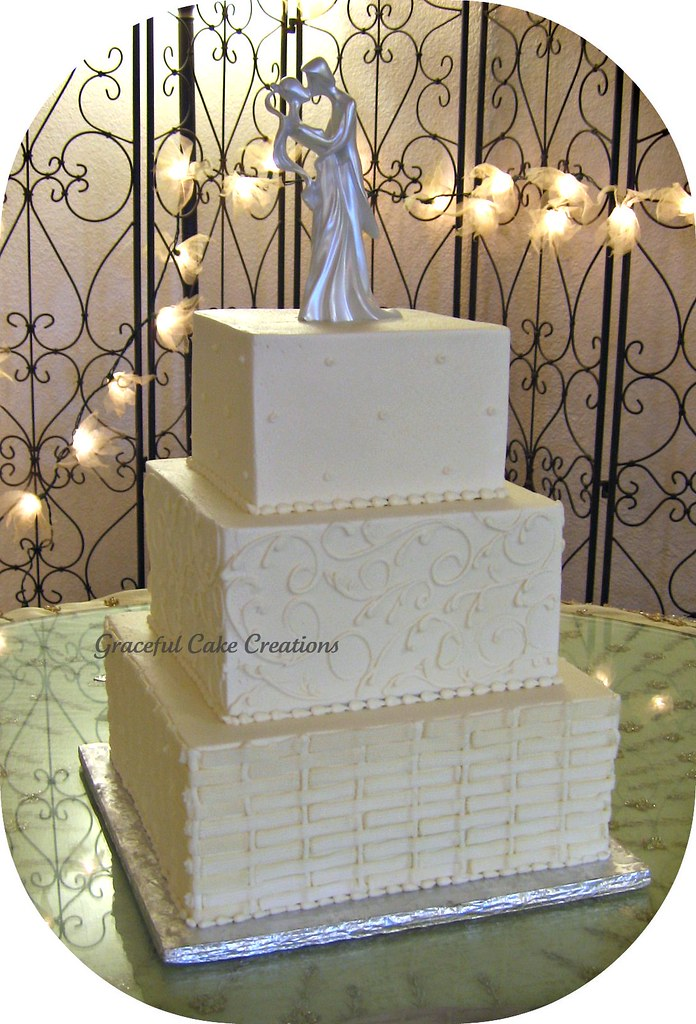 Basket Weave Wedding Cake Pictures