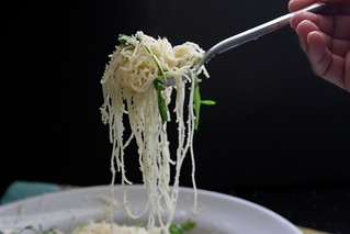 angel hair pasta w/ chile lemon & arugula | by shutterbean