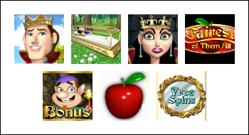 free Fairest of Them All slot game symbols