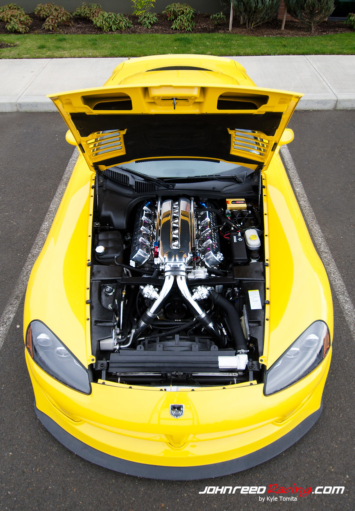 Twin-turbo Dodge Viper SRT-10 - hood open top | For more inf… | Flickr