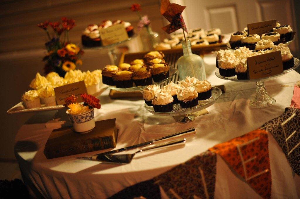 Wooden Candy Table ~ Meg tracy rustic cupcake wedding table