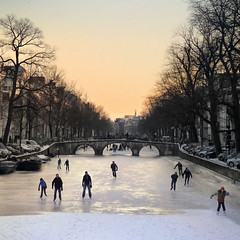 Ice skating season in Amsterdam