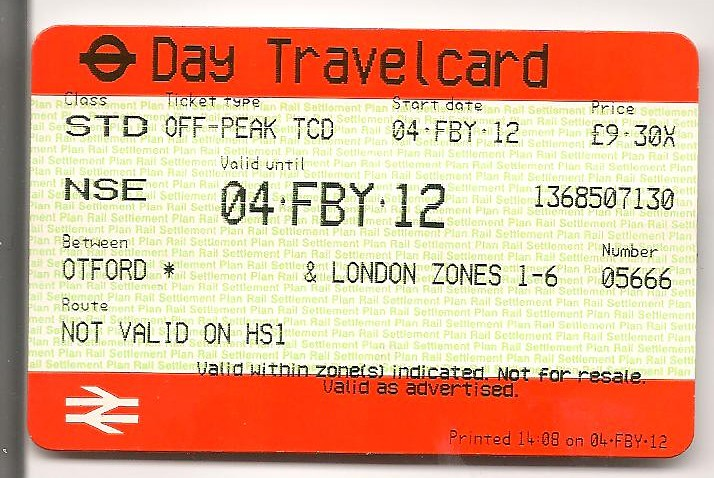 Get Free Credit Report >> SOUTH EASTERN - One Day Travelcard (Off-peak ...