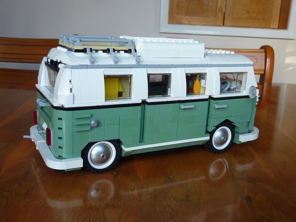 Lego T1 Camper Sand Green Needs Some Curtains Too Once