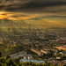 View of Kuala Lumpur Malaysia from Look Out Point in Ampang at Sunset - HDR