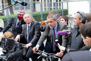 Riding to the Opening of Monumental Motion - Press Scrum | by Mikael Colville-Andersen