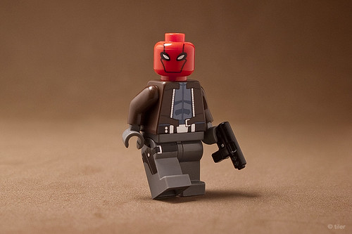 "Custom Lego Red Hood – from the animated Batman movie ""Under the Red Hood"" 