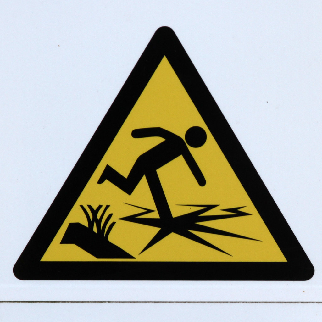 Caution Slippery When Wet Belly Ring