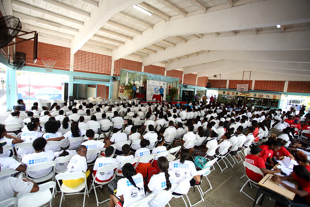 St joseph secondary school students gathered in their - St joseph convent port of spain trinidad ...