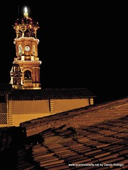Puerto Vallarta Church at night