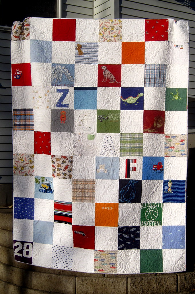 Commissioned Memory Quilt Made From Baby Clothes