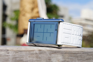 Kisai Stencil LCD Watch Design With Time, Date & Alarm from Tokyoflash Japan | by Tokyoflash Japan
