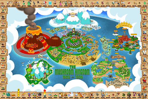NES/SNES-era Mushroom Kingdom Map | by mudron