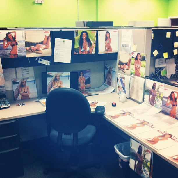 surprise. my friends at work decided to decorate my desk f… | flickr