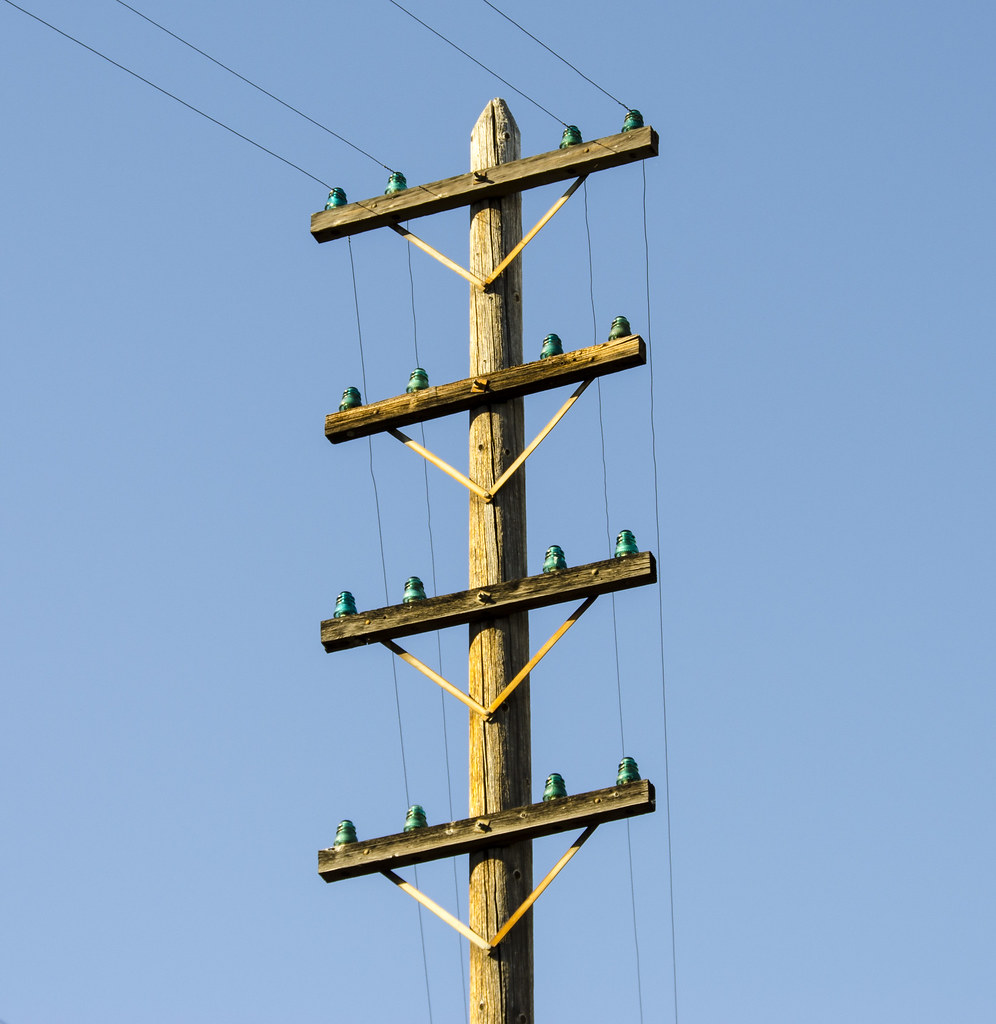 Telephone Pole with Glass Insulators | rschnaible | Flickr