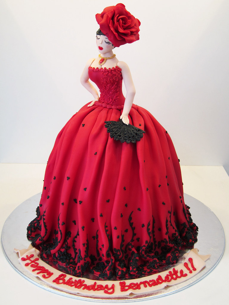 Spanish Couture A Doll Cake For A Spanish Themed Party