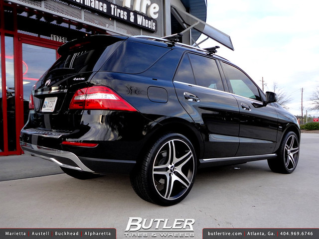 Mercedes Ml350 With 22in Eurosport Mb10 Wheels Flickr