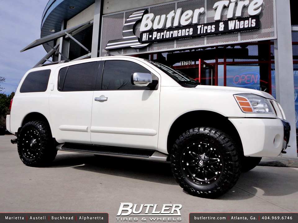 Nissan Armada with 18in Fuel Hostage Wheels and 3in Level ...