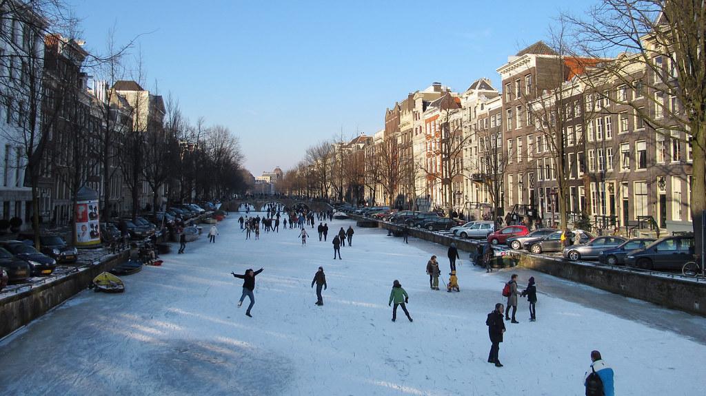 Incredible winter in Amsterdam... (Keizersgracht ...