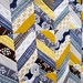 Close up of Herringbone quilt