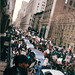 health care workers rally near Bellevue Hospital, NYC  Mar.1995