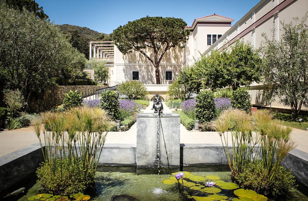 Garden At The Getty Villa Museum Malibu Los Angeles Ca