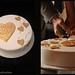 Gold Heart Wedding Cake