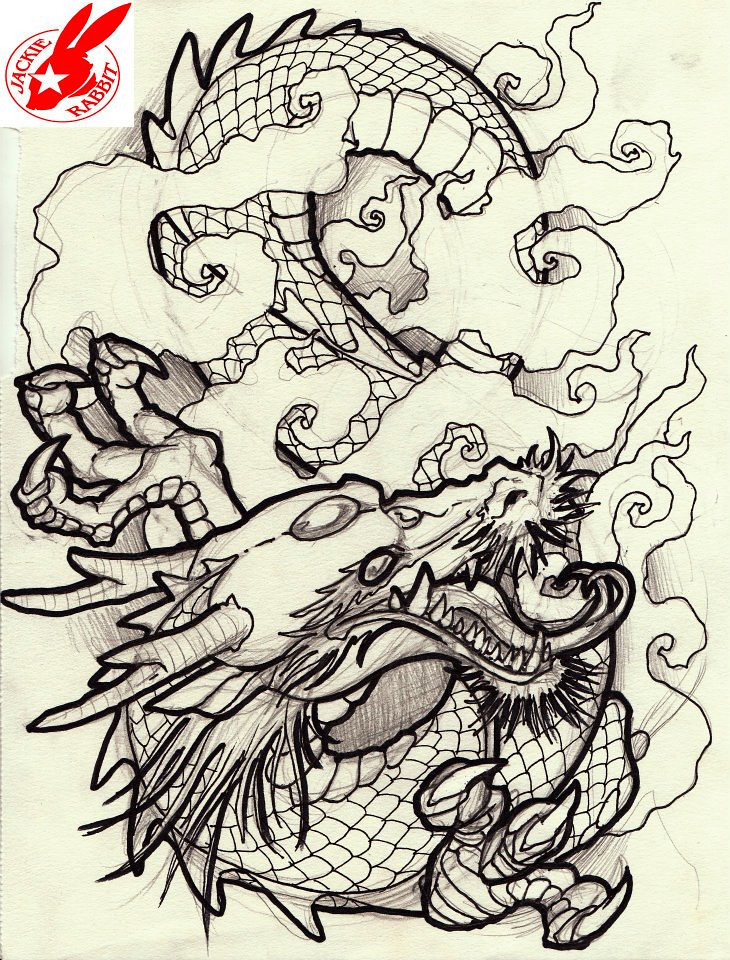 Japanese Rabbit Tattoo Japanese Dragon Tattoo Design