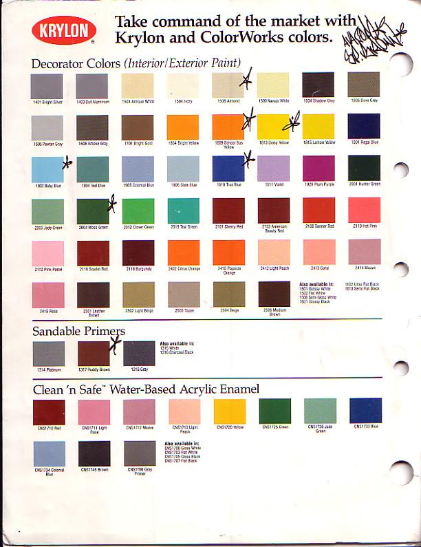 Krylon Color Chart 1 Tace105 Flickr