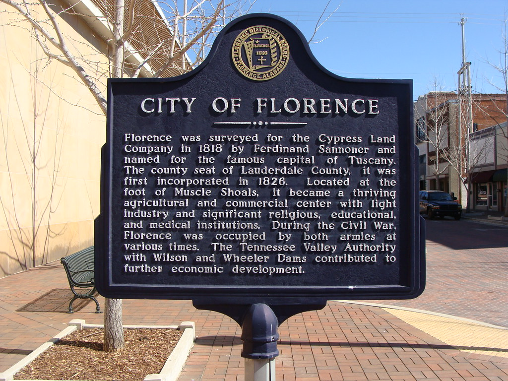 City Of Florence: Historic Marker (City Of Florence)