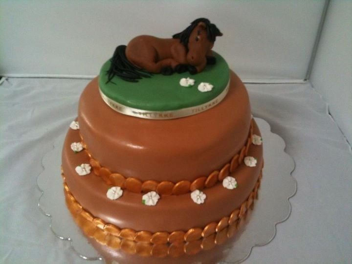 21 Figure Birthday Cakes: Birthday Cake With Horse Figure
