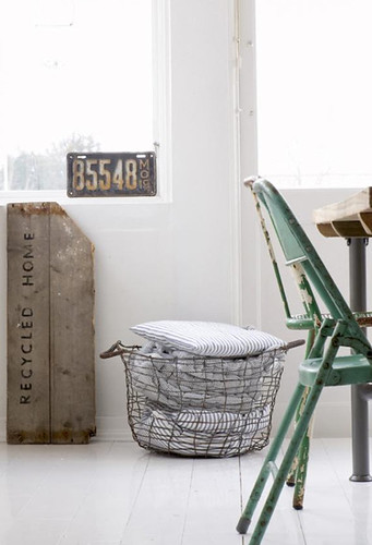 a scandinavian home with vintage & industrial finds | by the style files
