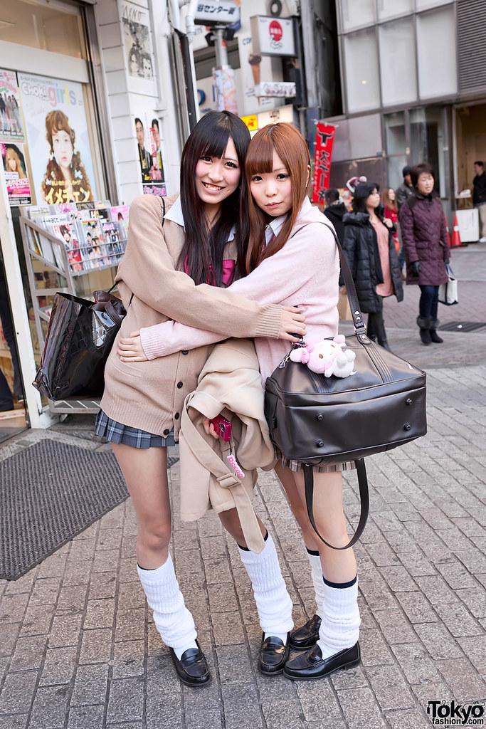 Shibuya School Girls In Loose Socks  Two Fun Japanese Schoo  Flickr-8813