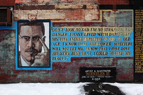 Malcolm X Brooklyn Mural Flickr Photo Sharing