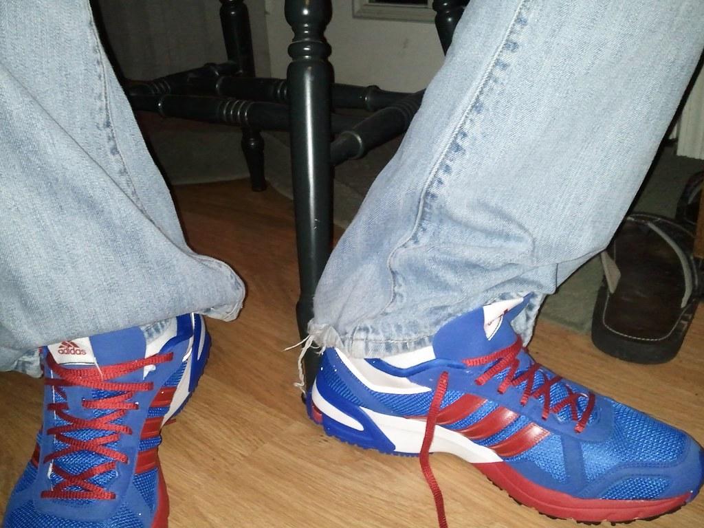 Adidas Blue White Shoes