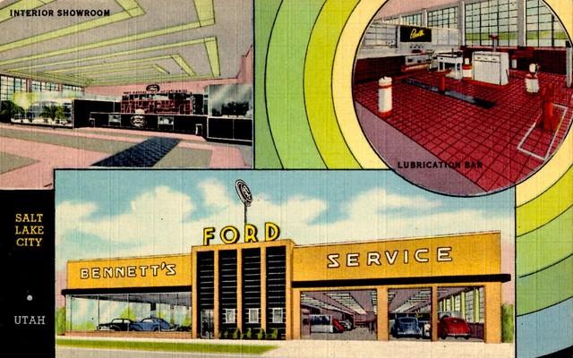 bennett motor co ford salt lake city utah 1947 flickr photo sharing. Black Bedroom Furniture Sets. Home Design Ideas