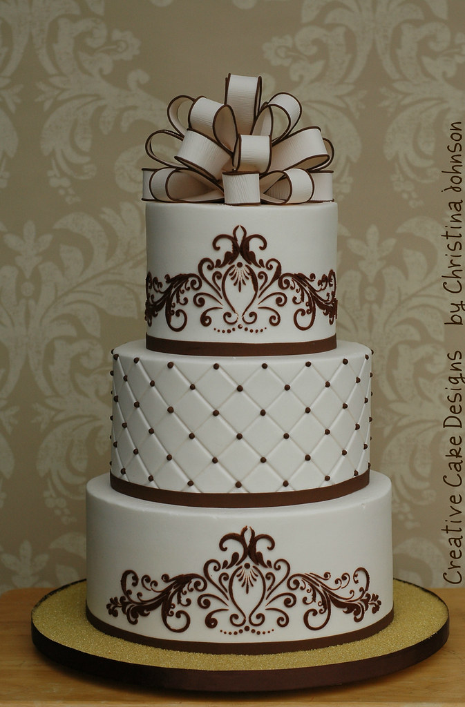 stenciled wedding cake design tonya ivory buttercream wedding cake ordered of a 20521