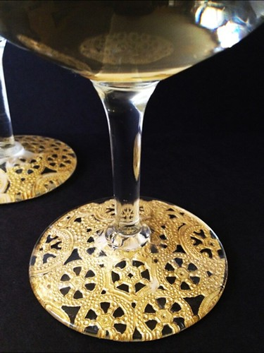 14 Gilded Lace Champagne Glasses | by fabricpaperglue