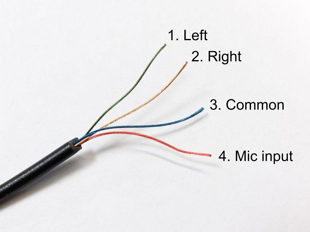 stereo headphone plug wiring diagram headset wiring | i took apart two of these headsets and ...